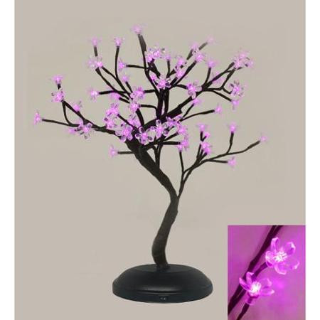 Indoor / Outdoor Table Top Bonsai Tree - Pink LED Lights & Indoor / Outdoor Table Top Bonsai Tree - Pink LED Lights - The ...