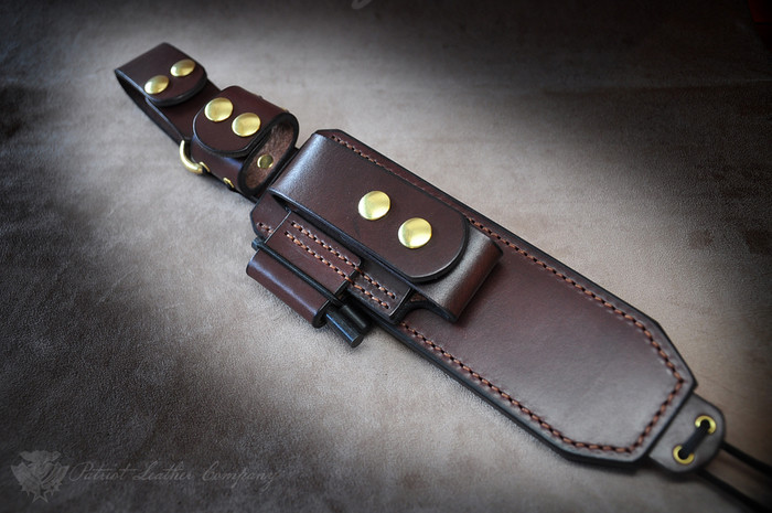 Flintlock Leather Belt Sheath