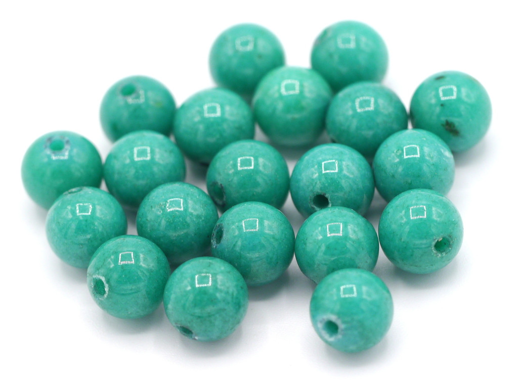 20pc 8mm Mountain Jade Beads, Turquoise