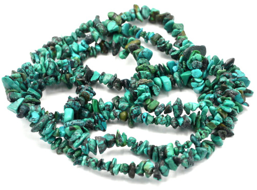 "35"" Strand Approx 4-8mm Turquoise Chip Beads"