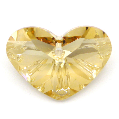 27x19mm Swarovski Crystal 6260 Crazy 4 U Heart Pendant, Crystal Golden Shadow