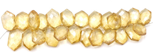 "4"" Strand 16-18mm Coated Quartz Faceted Hexagon Beads, Jonquil"