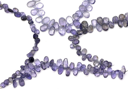 "RANDOM PICK-- 4"" Strand 5-17mm Faceted Iolite Beads"
