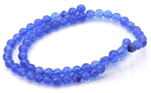 "15"" Strand 6mm Blueberry ""Quartz"" Glass Round Beads"