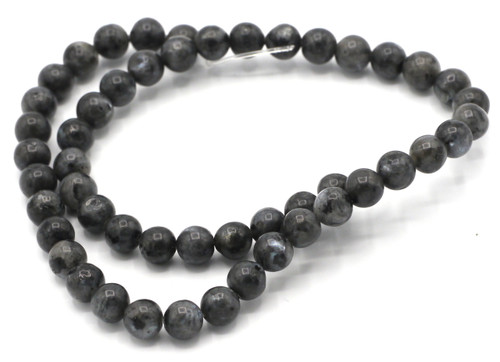 "15"" Strand 8mm Dark Labradorite Round Beads"
