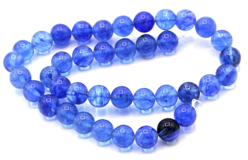 "15"" Strand 10mm Blueberry ""Quartz"" Glass Round Beads"