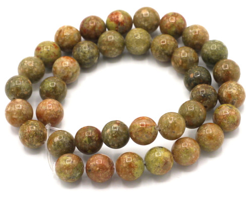 "15"" Strand 10mm Autumn Jasper Round Beads"