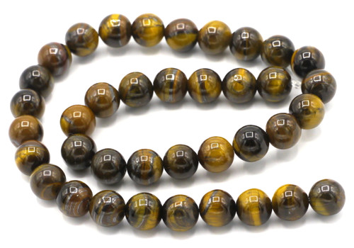 "15"" Strand 10mm Tigereye Round Beads"