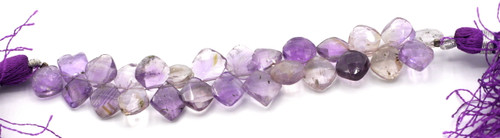 "4"" Strand 7-12mm Amethyst & Citrine Faceted Top-drilled Diamond Beads"
