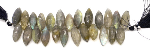 "4"" Strand Approx 16-24mm Labradorite Marquis Beads"