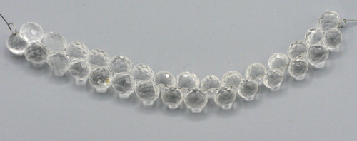 """4"""" Strand Approx 8mm Quartz Crystal Faceted Teardrop Beads"""