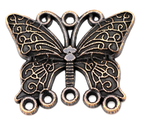 29x36mm Butterfly Chandelier Focal, Antique Copper