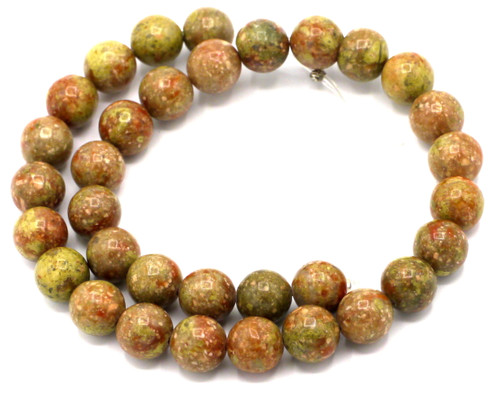 "15"" Strand 12mm Autumn Jasper Round Beads"