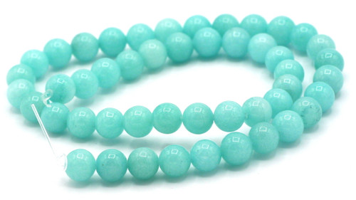 "15"" Strand 8mm Dyed Quartz Round Beads, Sky Blue"
