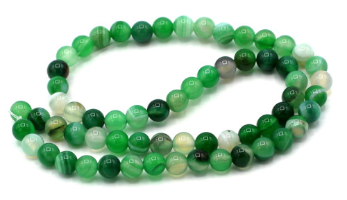"15"" Strand Lace Agate Gemstone Beads, Green"