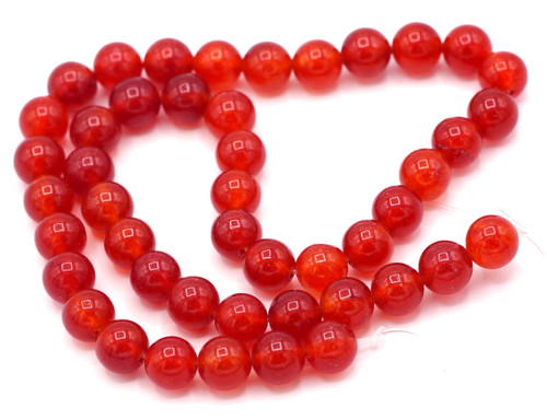 "15"" Strand 8mm Dyed Jade Beads, Red"