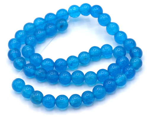 "15"" Strand 8mm Dyed Jade Beads, Cerulean"