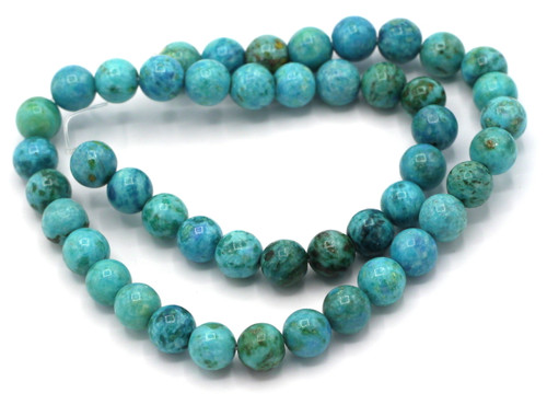 """15"""" Strand 8mm Dyed Riverstone Beads, Turquoise Blue"""