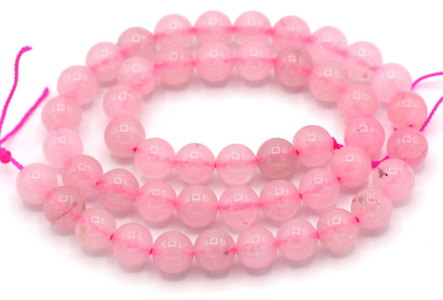"15"" Strand 8mm Rose Quartz Round Beads"