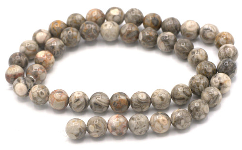 "15"" Strand 8mm Maifanite Round Beads"