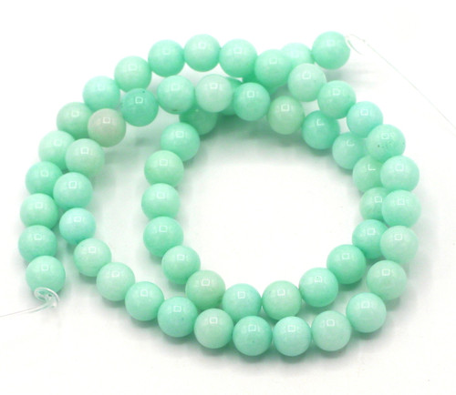 "15"" Strand 6mm Quartz Round Beads, Mint Blue"