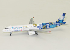 "JC Wings Turkish Airlines A321 Reg: TC-JRG ""Turkey - Discover the Potential"" with Antenna Scale 1/400 JC4305"
