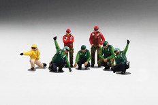 US NAVY DECK CREW LAUNCH TEAM (7 FIGURES) Scale 1/72 TSMWAC002
