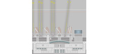 Herpa Munich Airport - Central Services / Central Plaza Scale 1/500