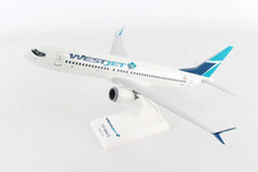 Skymarks Westjet Boeing 737-MAX8 with wood stand Scale 1/130 SKR919