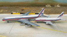 Gemini Jets Britannia Boeing 707 and 737 Twin pack Scale 1/400 GJBAL610