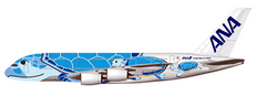 JC Wings ANA Airbus Flying Honu Lani Livery A380 JA381A Scale 1/200 JCEW2388001