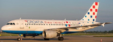 JC WIngs Croatia Airlines Airbus A319 Bravo Vatreni Livery 9A-CTL With Stand Scale 1/200 JC2143