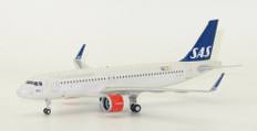 JC Wings SAS Scandinavian Airlines Airbus A320 Neo LN-RGL With Stand Scale 1/200 JC2171