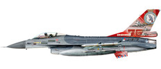Herpa Wings Royal Netherlands Air Force Lockheed Martin F-16A 322 Squadron Leeuwarden AB 75th Anniversary J879 Scale 1/72 580403