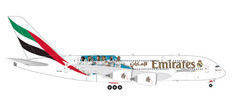 "Herpa Wings Emirates Airbus A380 ""Real Madrid 2018 Scale 1/200 559508"