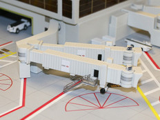 Gemini Jets Airbridge Set 2 (x3 double wide body)1:400 GJARBRDG2