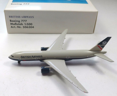 British Airways Boeing 777 Landor Scale 1/1500 506304