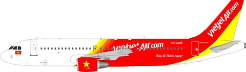 JFOX VIETJET AIR AIRBUS A320-214 VN-A695 WITH STAND SCALE 1/200 JFA320002