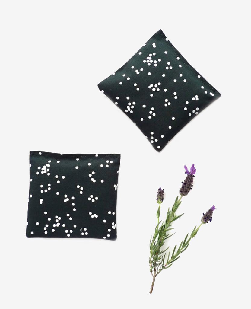 Deep Teal Confetti Lavender Sachet