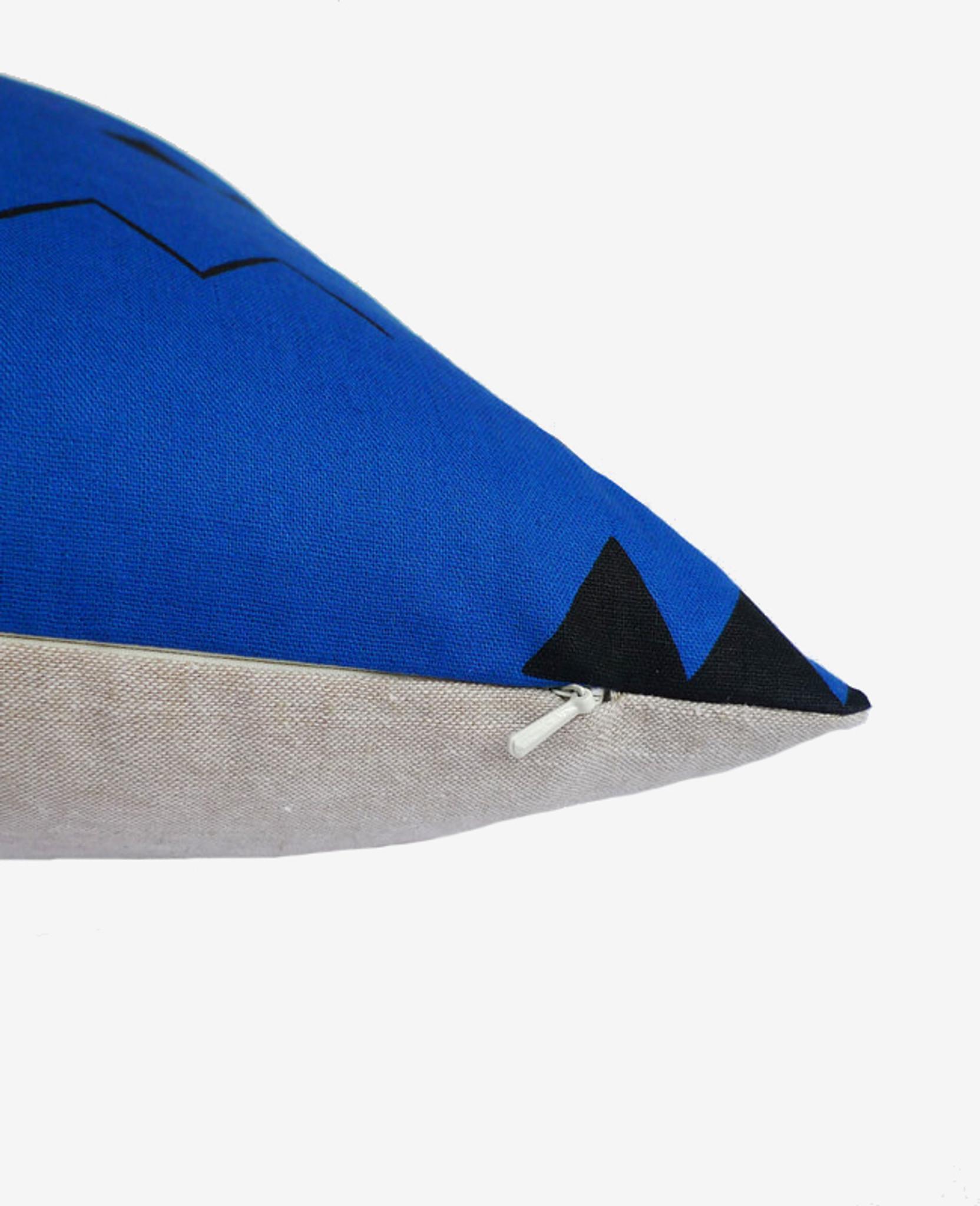 Indigo Blue Zig Zag Pillow