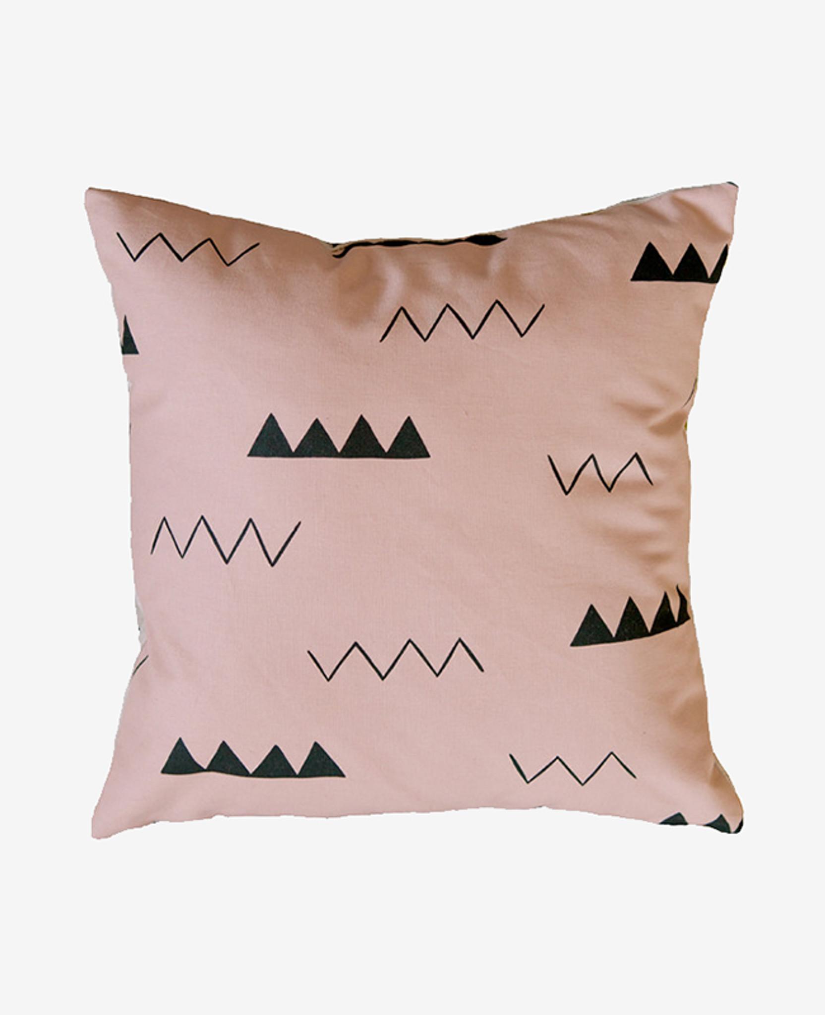 Blush Pink Zig Zag Pillow