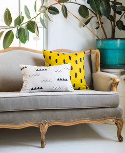 Gold Brushstroke Pillow