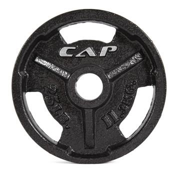 25 lb CAP Olympic Cast Iron Grip Plate, Black