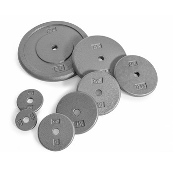 Multiple weights of CAP Standard Cast Iron Plate