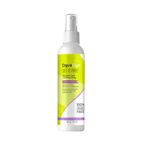 DevaCurl Set It Free Shine & Finish Moisture Lock Finishing Spray 6oz