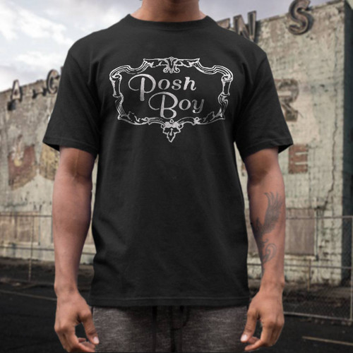 Posh Boy  records label t  shirt