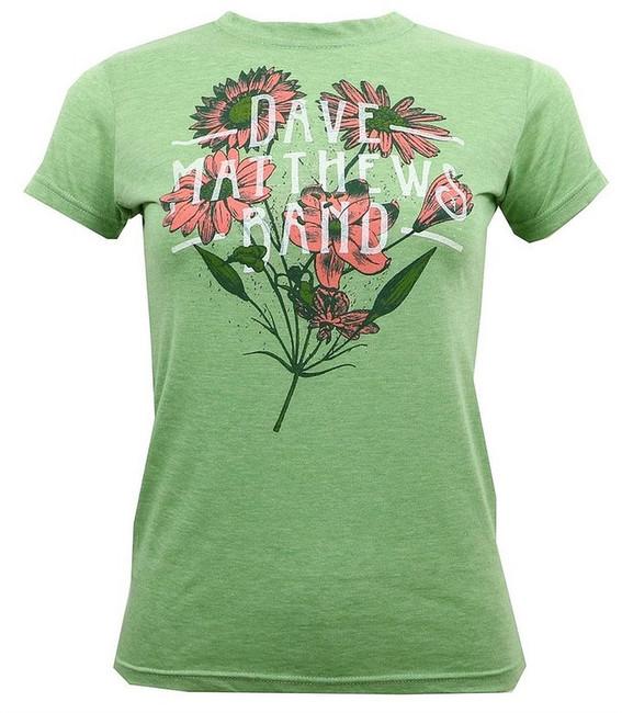 Dave Matthews Band Flowers Junior Women's T-Shirt