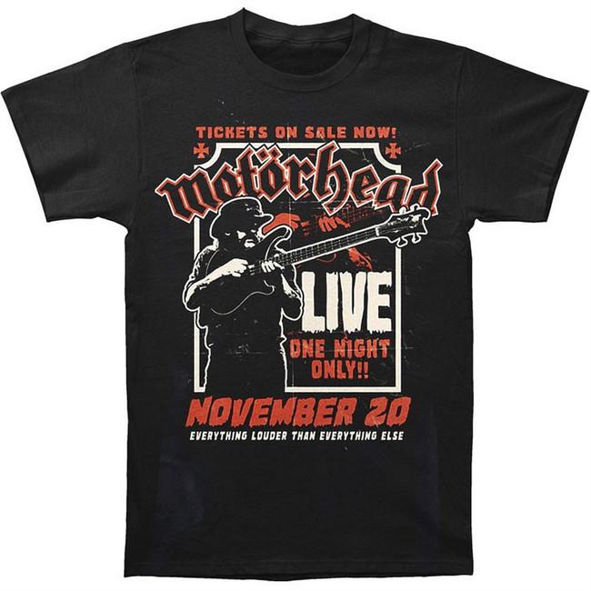 Motorhead Lemmy Fire Power Men's Black T-Shirt