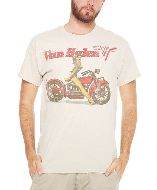 Van Halen Biker Pin-Up T-Shirt