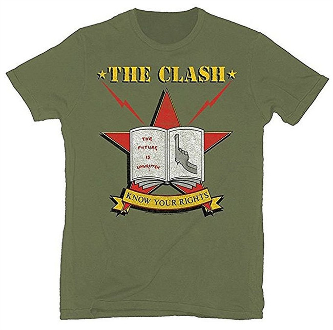 The Clash Know Your Rights 1982 Tour Soft T-Shirt